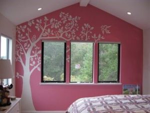 Wall Decal on a Painted Accent Wall